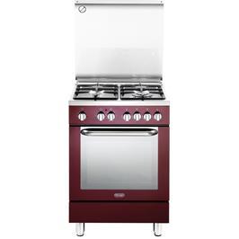 תנור חשמלי רב תכליתי 8 תוכניות משולב כיריים 4 להבות תוצרת Delonghi דגם NDS577R בצבע אדום