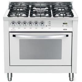 """תנור משולב כיריים בעיצוב תעשייתי ואלגנטי 90 ס""""מ בצבע לבן תוצרת LOFRA דגם MSBG96MFT COOL"""
