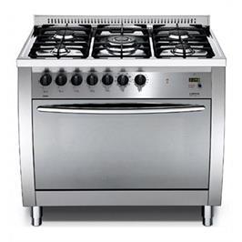 """תנור משולב כיריים ברוחב 90 ס""""מ בעיצוב תעשייתי גימור נירוסטה תוצרת LOFRA דגם CSG96MFT COOL"""