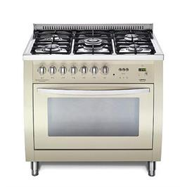 """תנור משולב כיריים רוחב 90 ס""""מ בצבע בז' תוצרת LOFRA CURVA דגם  CSBIG96MFT COOL"""