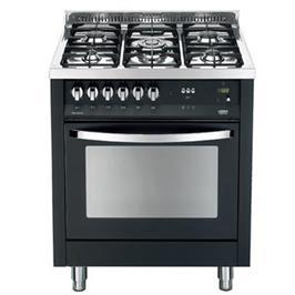 """תנור אפייה משולב כיריים 5 להבות כולל טורבו ברוחב 70 ס""""מ צבע שחור תוצרת LOFRA דגם PNM76MF"""