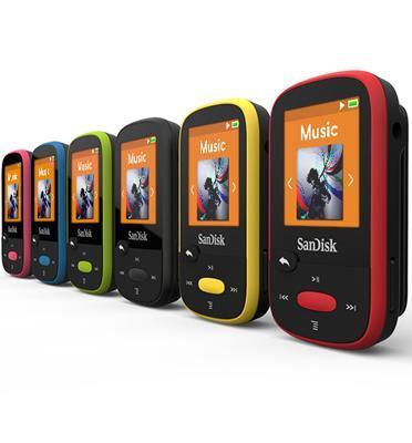 נגן SanDisk Clip Sport MP3 בנפח 8GB שנתיים אחריות מבית SanDisk דגם SDMX24-008G-G46B