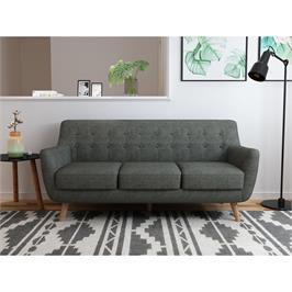 ספה תלת מעוצבת לישיבה נוחה מאוד, בד רך ונעים למגע ושלדה מעץ מלא מבית BRADEX דגם PICASSO