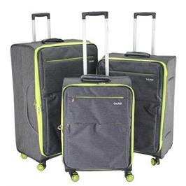 סט מזוודות בד 3 יח' 30 | 27 | 23 | אינטש רחבים וקלים במיוחד! מבית Calpaks דגם TORONTO