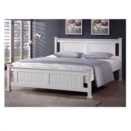 מיטה זוגית מעוצבת מעץ מלא מסגרת תומכת מסביב למניעת תזוזת המזרן מבית BRADEX דגם BALENO