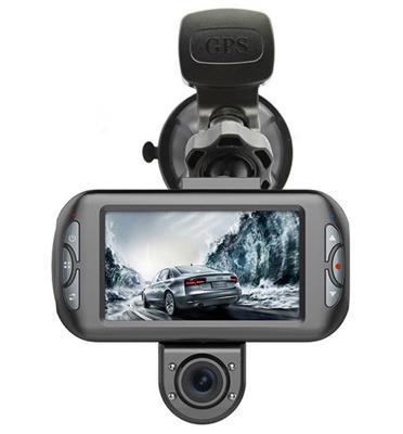 מצלמת רכב דו כיוונית בעלת GPS מובנה מבית DISCOVERY דגם DISCOVERY 990
