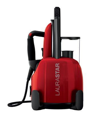 מגהץ קיטור מקצועי בצבע אדום תוצרת LAURA STAR דגם LS501 + קרש גיהוץ מדגם LS-143 מתנה !!!