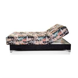 """מיטת יחיד חשמלית אורטופדית  מעוצבת כולל מזרון אורטופדי בעובי 28 ס""""מ מבית RAM DESIGN דגם תהל"""