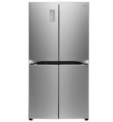 מקרר 4 דלתות בנפח 680 ליטר No Frost  גימור נירוסטה מוברשת תוצרת .L.G דגם GRB708S