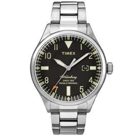 שעון יד אנלוגי עם תאורה עשוי פלדת אל חלד ועמיד במים עד 50M מבית TIMEX דגם TI-2R251