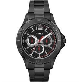 שעון יד Multifunction לגבר עם תאורה עשוי פלדת אל חלד מבית TIMEX דגם TI-2P877
