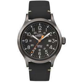 שעון יד אנלוגי עם תאורה לגבר עשוי פלדת אל חלד ועמיד במים עד 50M מבית TIMEX דגם TI-4B019