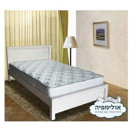 מיטה מעץ אורן מלא גושני חזק המשופר בצבע המיוחד לעץ ללא מזרן מבית אולימפיה דגם יעל
