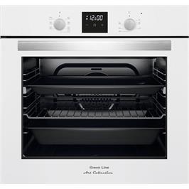 תנור בנוי לבן בגימור זכוכית מסדרת Art Collection המעוצבת והיוקרתית מבית GREEN LINE דגם GRB9600W