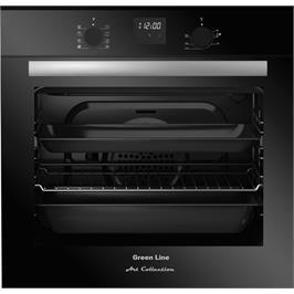 תנור בנוי שחור גימור זכוכית מסדרת Art Collection המעוצבת והיוקרתית מבית GREEN LINE דגם GRB9800B