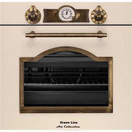 תנור בנוי מסדרת ArtCollection עיצוב כפרי יוקרתי גימור בז' שמנת מבית Green Line דגם G-ART6500-BV