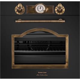 תנור בנוי סדרת Art Collection עיצוב כפרי יוקרתי גימור שחור פחם מבית Green Line דגם G-ART6500-BL
