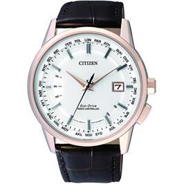 שעון יד סולארי מתכוונן אוטומטית עשוי פלדת אל חלד וזכוכית ספיר מבית CITIZEN דגם CI-CB015321A