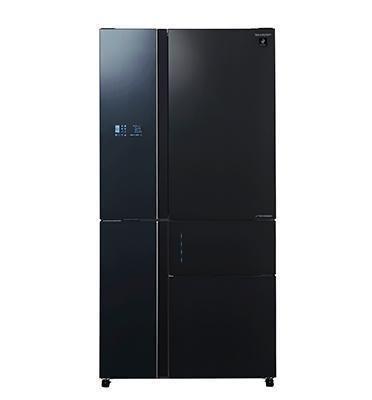 מקרר 5 דלתות בנפח 661 ליטר No-Frost מנוע אינוורטר זכוכית שחורה תוצרת SHARP דגם SJ-R9711