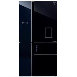 מקרר 5 דלתות בנפח 651 ליטר No-Frost מנוע אינוורטר זכוכית שחורה תוצרת SHARP דגם SJ-R9811