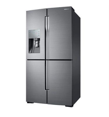 מקרר 4 דלתות בנפח 857 ליטר בגימור פלטיניום סטיל תוצרת SAMSUNG דגם RF80K9070SR/ML