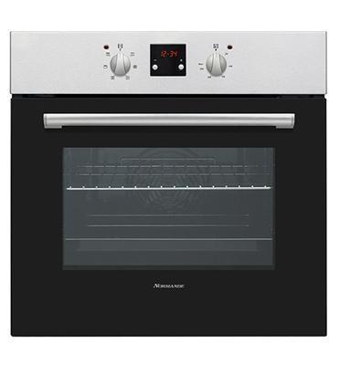 תנור אפיה בנוי תא אפייה ענק - 56 ליטר נטו 6 תכניות צבע שחור תוצרת Normande דגם KL-65