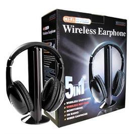 אוזניות אלחוטיות מגוון רחב של מוצרי אודיו כולל רדיו FM לטווח של 10M מבית MATRIX דגם 5IN1