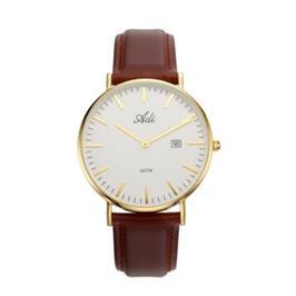 שעון יד לגבר עם תאריכון עשוי פלדת אל חלד ועמיד במים מבית ADI דגם 18-3794-381