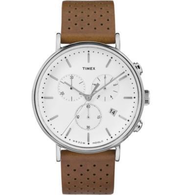 שעון כרונוגרף לגבר תאורת מסך בעיצוב אורבני עשוי פלדת אל חלד ועמיד במים מבית TIMEX דגם TI-2R267
