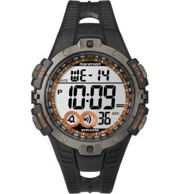 שעון יד דיגיטלי לגבר עם פונקציות דיגטליות ותאורה עמיד במים מבית TIMEX Marathon דגם TS-5K801