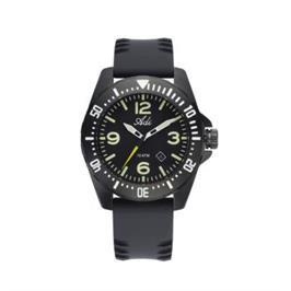 שעון יד ספורטיבי לגבר עשוי פלדת אל חלד מושחרת ועמיד במים עד 100M מבית ADI דגם 21-744599-502