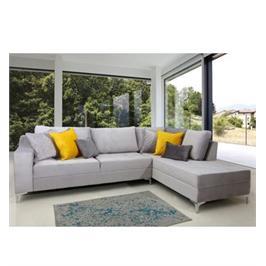 ספה פינתית מפוארת עם רגלי ניקל מבית VITORIO DIVANI דגם קליאופטרה