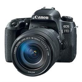 """מצלמה רפלקס DSLR 24.2MP מסך 3"""" כולל עדשה 18-135IS תוצרת CANON דגם EOS 77D - אחריות יבואן רשמי!"""