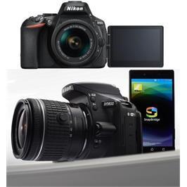 מצלמת DSLR מקצועית 24.2MP חיישן CMOS  וידאו Full HD עדשה 18-55AF-P VR תוצרת NIKON דגם D5600