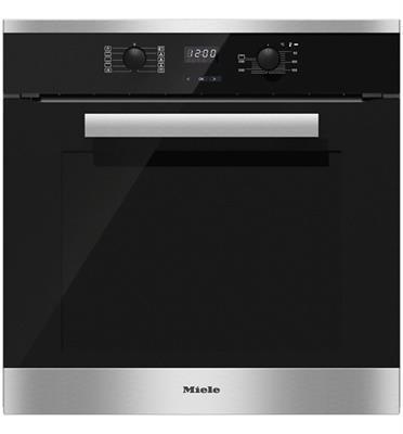 תנור אפיה בנוי פירוליטי 76 ליטר מסדרת Pure line בצבע נירוסטה תוצרת Miele דגם H2661BP CLST