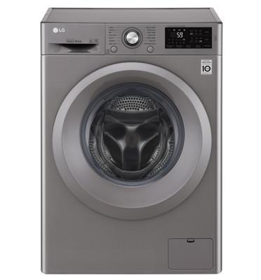 """מכונת כביסה פתח חזית 8 ק""""ג 1200 סל""""ד מנוע INVERTER תוצרת LG דגם F0812WS - צבע כסוף"""