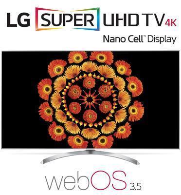 """טלוויזיית """"55 LED Smart TV 4K Ultra HD ופאנל IPS בטכנולוגית Nano Cell תוצרת LG דגם 55SJ800Y"""