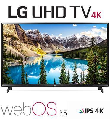 """טלוויזיה """"65 LED Smart TV 4K Ultra HD עם פאנל IPS תוצרת LG דגם 65UJ630Y"""