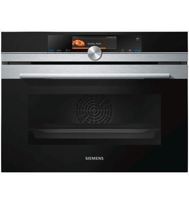 """תנור קומפקטי בגובה 45 ס""""מ משולב מיקרוגל סדרת iQ700 תוצרת SIEMENS דגם CM636GBS1"""