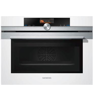 """תנור קומפקטי בגובה 45 ס""""מ משולב מיקרוגל סדרת iQ700 תוצרת SIEMENS דגם CM636GBW1"""