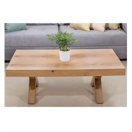 שולחן סלון עשוי מעץ פורניר אלון מבוקע ברמה הגבוהה ביותר מבית ויטוריו דיוואני דגם טריגו