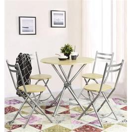 פינת אוכל הכוללת שולחן וארבע כסאות למרפסת, לחצר או לפינת האוכל מבית Homax דגם בריטני