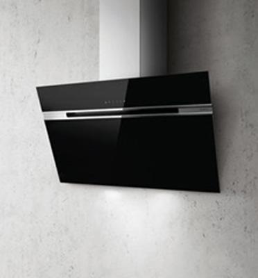 קולט אדים ארובה צמוד קיר בגימור זכוכית צבע שחור תוצרת Elica דגם STRIPE-BLA-60LX