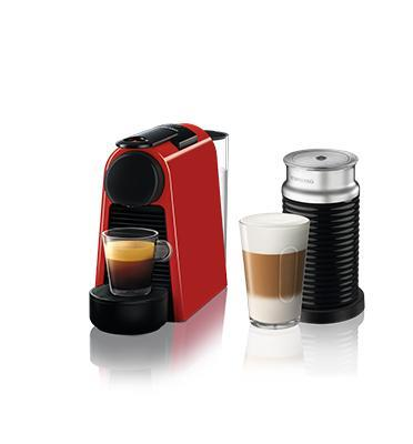 מכונת קפה אסנזה מיני בצבע אדום כולל מקציף חלב ארוצ'ינו מבית Nespresso דגם A3ND30-IL-RE-NE