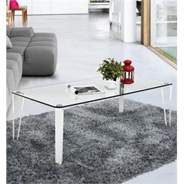 שולחן סלון בשלושה צבעים לבחירה מסדרת רהיטי הזכוכית של בעיצוב צעיר ומיוחד מבית Homax דגם ג'ימי