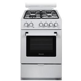 תנור אפיה צר משולב כיריים 4 מבערי גז נפח תא אפיה 52 ליטר 5 תכניות Normande דגם KL-505W