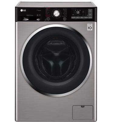 """מכונת כביסה פתח חזית 10.5 ק""""ג 1,400 סל""""ד תוצרת LG דגם F10514WV"""