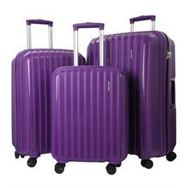 סט מזוודות קשיחות 3 יח' 29|24|20 אינטש פוליפרופלין הכי קל הכי חזק מבית CalPaks דגם Stanford