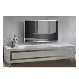 מזנון לסלון בצבע לבן בגימור אפוקסי בעיצוב יוקרתי מאוד לשידרוג הסלון מבית .LEONARDO דגם SHARONA