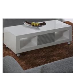 שולחן לסלון בגימור אפוקסי לבן עם אפור בעיצוב יוקרתי לשידרוג הסלון מבית LEONARDO דגם NOVIA